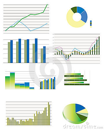 Free Selection Of Typical Business Performance Graphs Royalty Free Stock Photo - 18084975