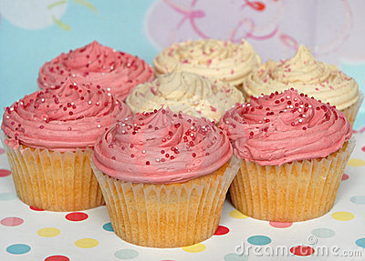 Selection of party cupcakes