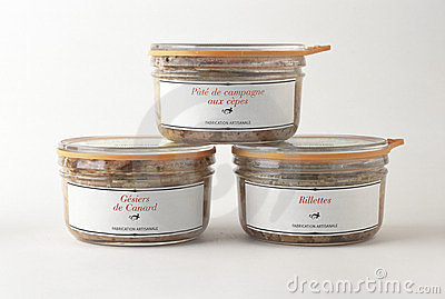 Selection of preserved food Editorial Stock Image