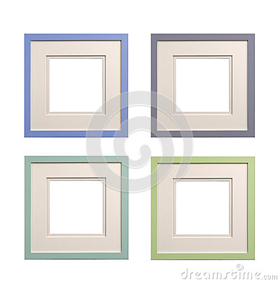 picture frames with bevel mount isolated large and square