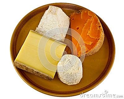Seleção do queijo de Continenal