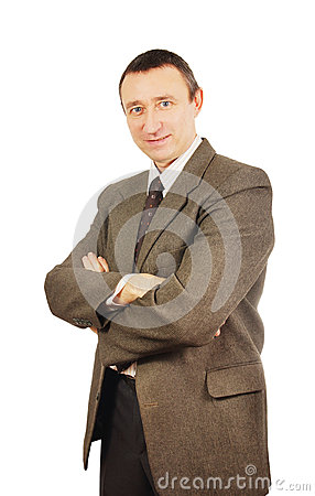 Self confident man in a business suit