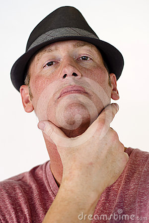 Self-confident Man in Hat