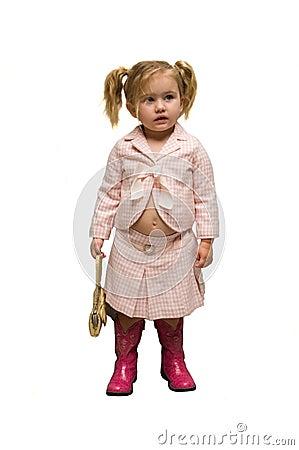 Self dressed infant