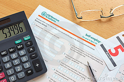 Self employment tax form Editorial Stock Image