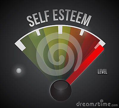 Self esteem level measure meter from low to high