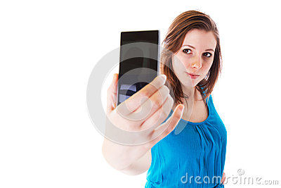 Self portrait with cell phone