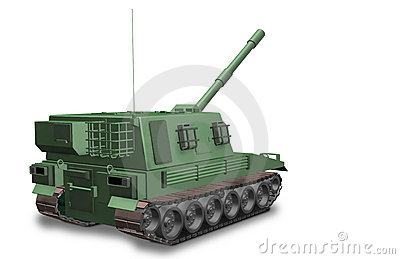 A self-propelled artillery