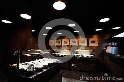 Self-service restaurant interior