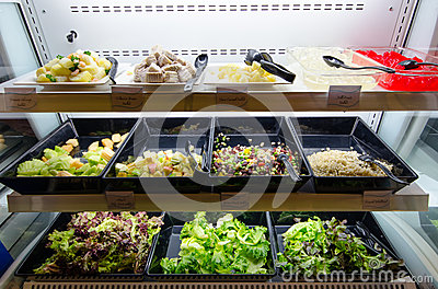 Self-service salad bar