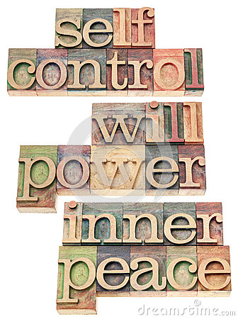 Selfcontrol, willpower, inner peace