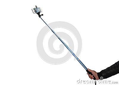 selfie stick stock photo image 51529995. Black Bedroom Furniture Sets. Home Design Ideas
