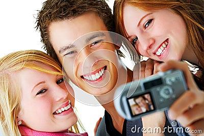 Selfportrait of three teens