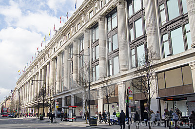 Selfridges Department Store, London Editorial Photo