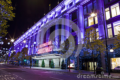 Selfridges in London Editorial Stock Photo