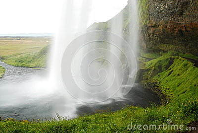 Seljalandsfoss waterfall in south of Iceland