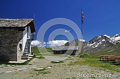 Sella mountain hut, Gran Paradiso national park.