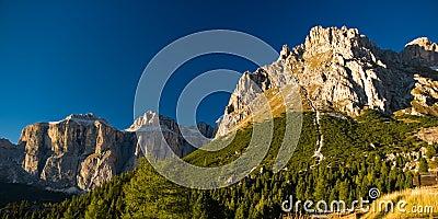 Sella mountain range