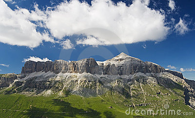 Sella mountains with Piz Boe