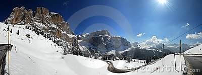 Sella Pass Panorama, Italy