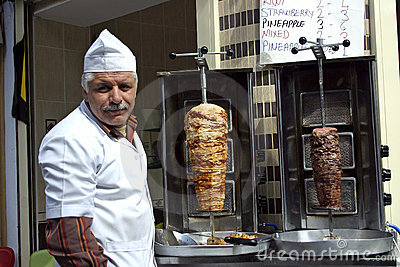 Seller kebap Istanbul Editorial Stock Photo
