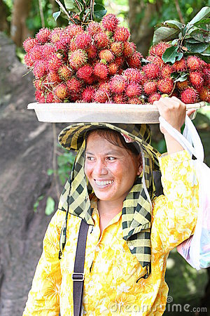 Seller in Sihanoukville Editorial Photo