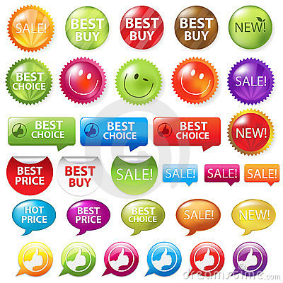 Selling Badges. Vector