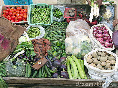 Selling Fresh Vegetables