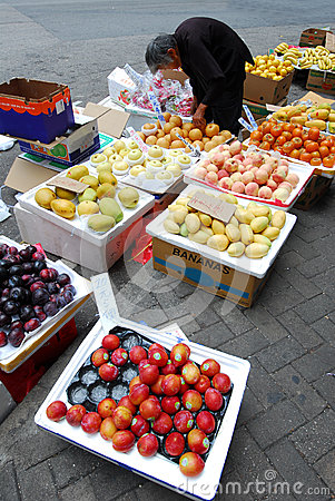 Selling fruit Editorial Stock Photo