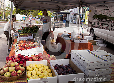 Selling Fruit and Vegetables. Editorial Image