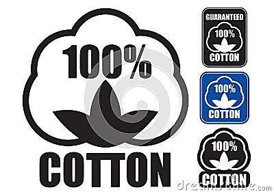 Sello 100  del algodón