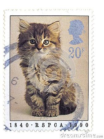 Sello británico del gato