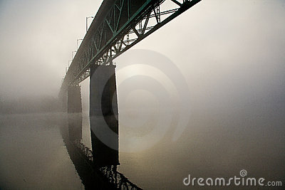 Sellwood Bridge in Portland, Oregon.