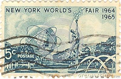 Selo da feira de mundo de New York