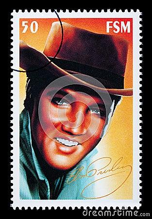 Selo De Porte Postal De Elvis Presley