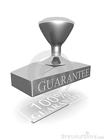 Selo de uma garantia de 100 por cento