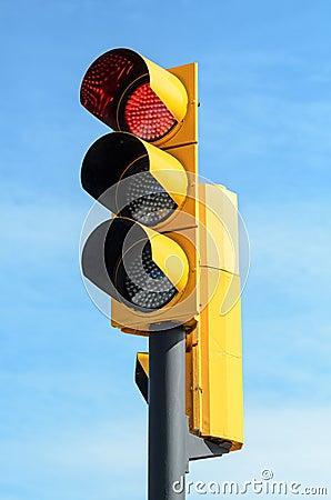 Semáforo de la luz roja