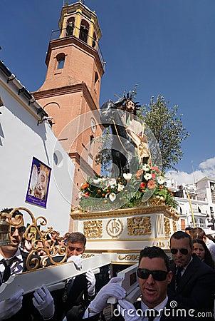 Semana圣诞老人在安大路西亚 编辑类图片