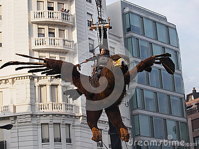 Semana Grande festival in Bilbao Editorial Photography