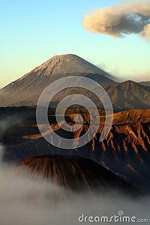 Semeru volcano Indonesia