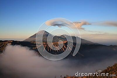 Semeru volcano on Java, Indonesia