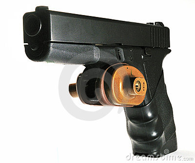 Semi-automatic handgun with trigger lock
