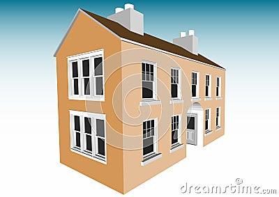 Semi-build house frame