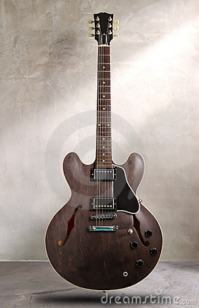 Semi hollow guitar
