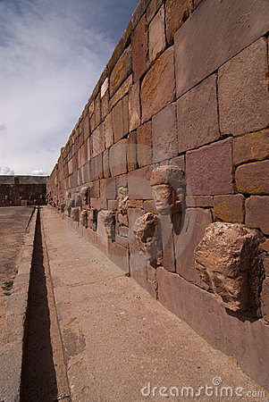 Semi-subterranean Temple in Tiwanaku.