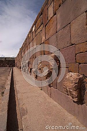 Semi-subterranean Temple in Tiwanaku.
