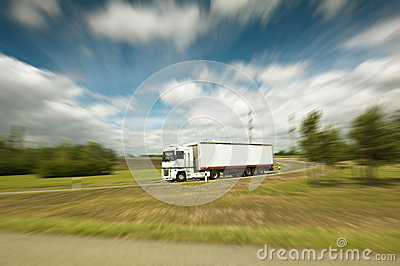 Semi truck on the road
