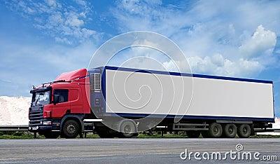 Semi truck and trailer