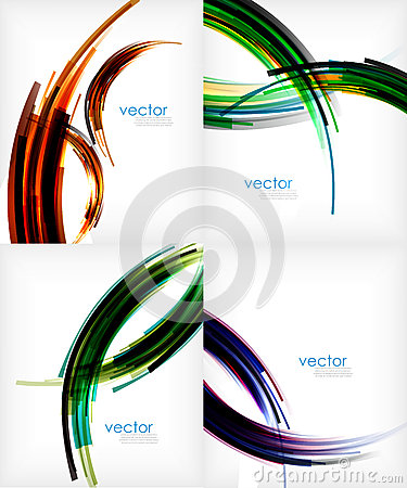 Free Semicircle Stripes Modern Abstract Template Royalty Free Stock Images - 40366869
