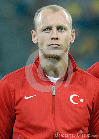 Semih Kaya in Romania-Turkey World Cup Qualifier Game Editorial Image
